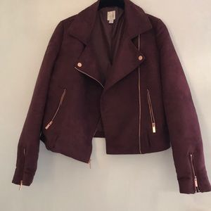 Burgundy Lauren Conrad jacket